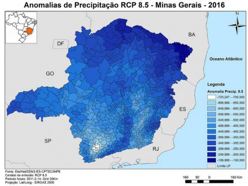 Estudo avalia vulnerabilidade de Minas Gerais à mudança do clima